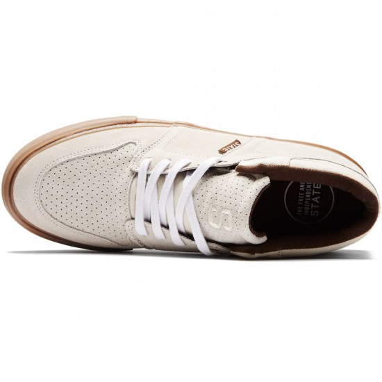 State Mercer Shoes - Cream/Gum Suede - 8.0