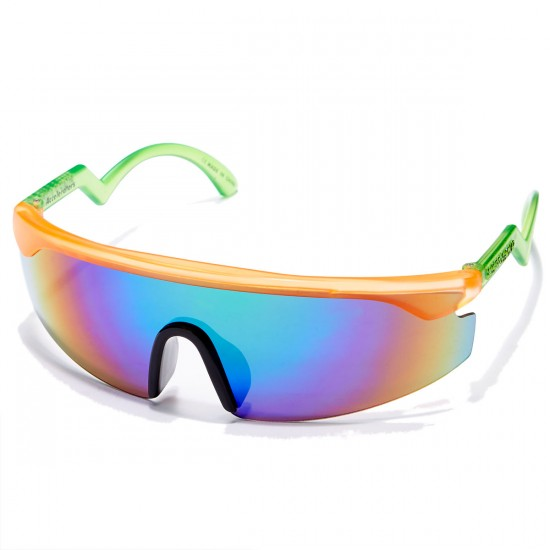 Happy Hour Jeremy Leabres The Accelerators Sunglasses - Orange With Green Arms