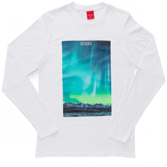 VISUAL Northern Long Sleeve T-Shirt - White