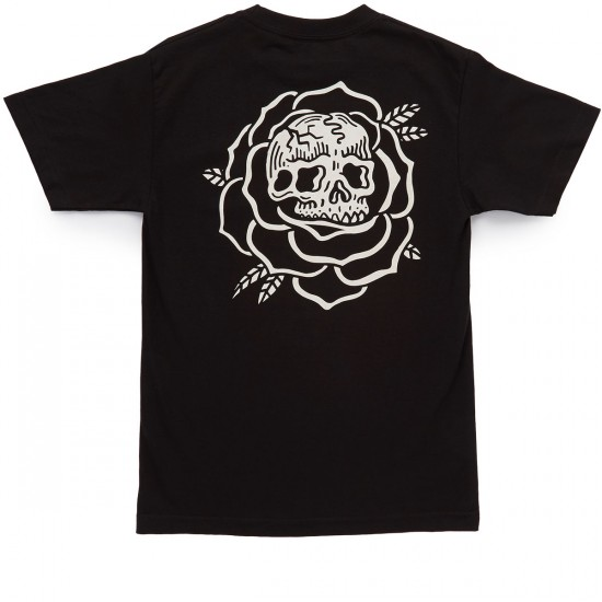 Sketchy Tank Rose T-shirt - Black