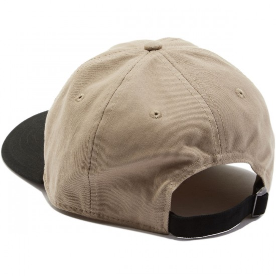 Welcome Basic Witch Unstructured 6-Panel Slider Hat - Khaki/Black