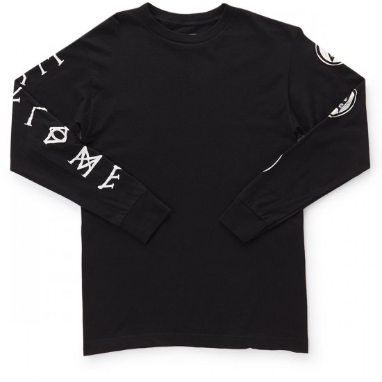 Welcome Binary Long Sleeve T-Shirt - Black/White