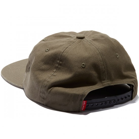 Dog Limited Hungover Snapback Hat - Olive