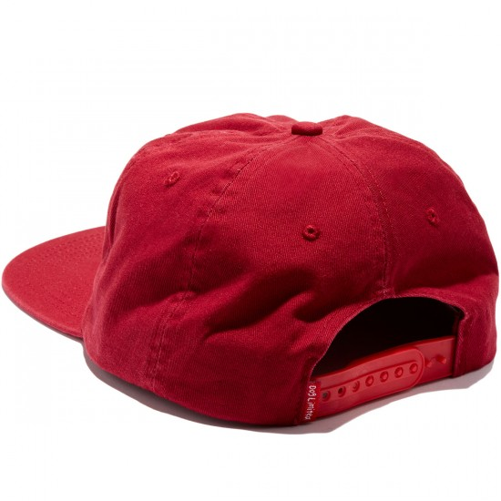 Dog Limited St Bernard Church Snapback Hat - Burgundy