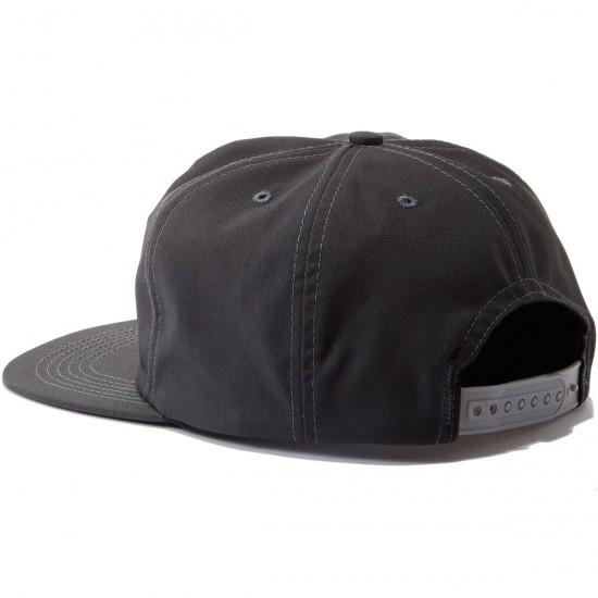 Old Friends Hugger Patch Snapback Hat - Charcoal