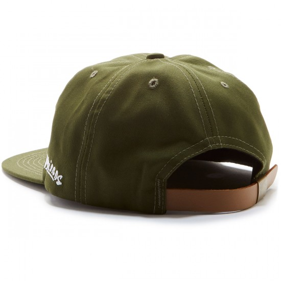Old Friends Solo Board Leather Strap Hat - Olive