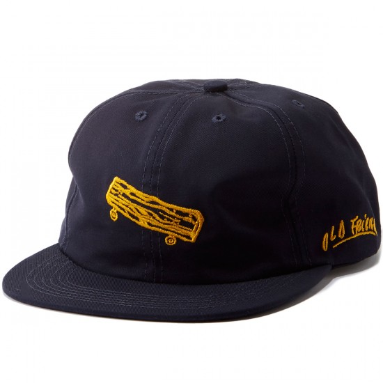 Old Friends Solo Board Leather Strap Hat - Navy