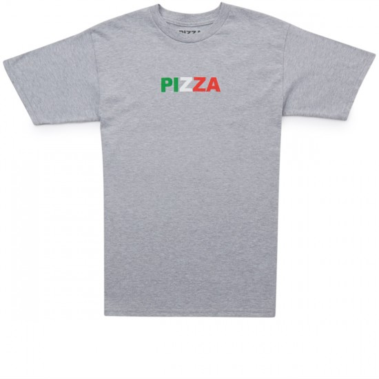 Pizza Tri Color Logo T-Shirt - Grey