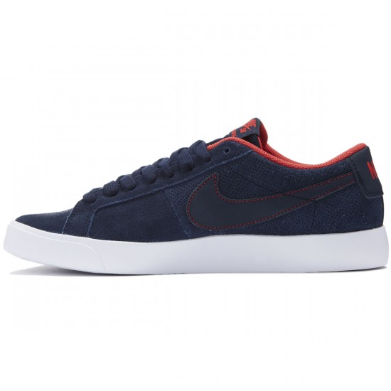 Nike SB Blazer Vapor Shoes - Obsidian/White/Red - 10.0