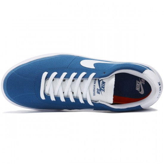 Nike SB Bruin Hyperfeel Shoes - Industrial Blue/White/White - 10.0