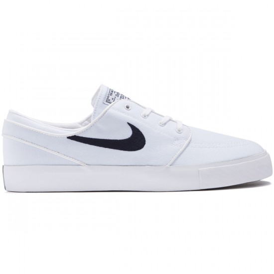 Nike Zoom Stefan Janoski Canvas Shoes - White/Obsidian - 10.0