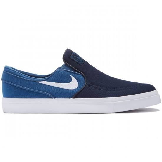Nike Zoom Stefan Janoski Slip-On Shoes - Obsidian/White/Industrial Blue - 10.0