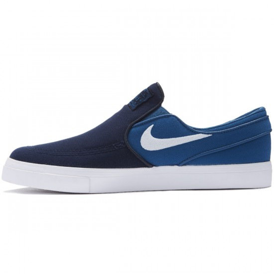 Nike Zoom Stefan Janoski Slip-On Shoes - Obsidian/White/Industrial Blue