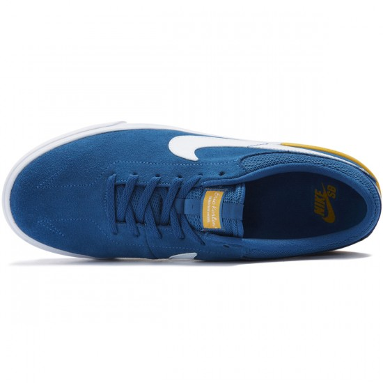 Nike SB Koston Hypervulc Shoes - Industrial Blue/White/University Gold - 10.0