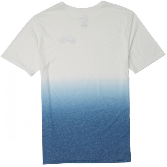 Nike SB Dry T-Shirt - White/Industrial Blue/Industrial Blue