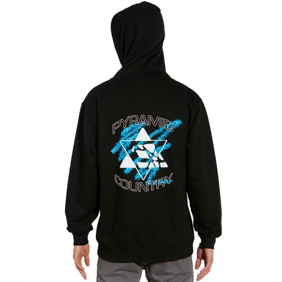 Pyramid Country Neo Zip Hoodie - Black