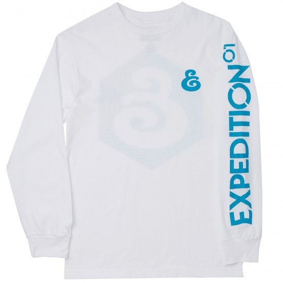 Expedition Geo Long Sleeve T-Shirt - White