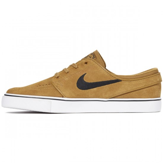 Nike Zoom Stefan Janoski Shoes - Golden Beige/Black - 7.0