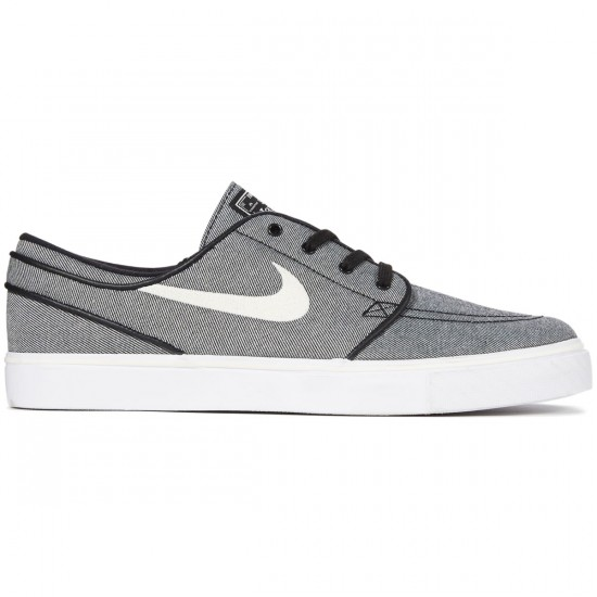 Nike Zoom Stefan Janoski Canvas Shoes - Black/Sail - 7.0
