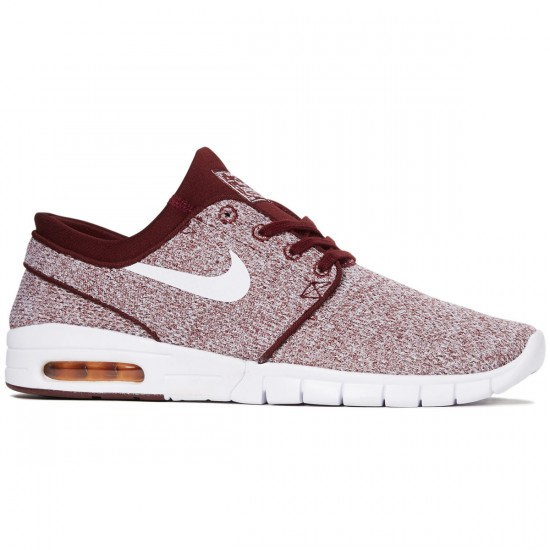 Nike Stefan Janoski Max Shoes - Dark Team Red/White/Circuit Orange - 7.0