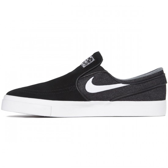 Nike Zoom Stefan Janoski Slip-On Shoes - Black/White
