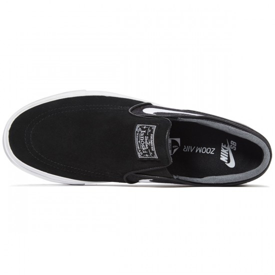 Nike Zoom Stefan Janoski Slip-On Shoes - Black/White - 6.0