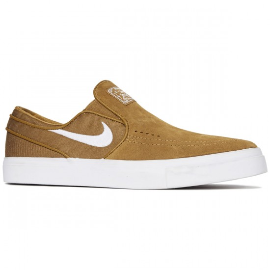 Nike Zoom Stefan Janoski Slip-On Shoes - Golden Beige/White