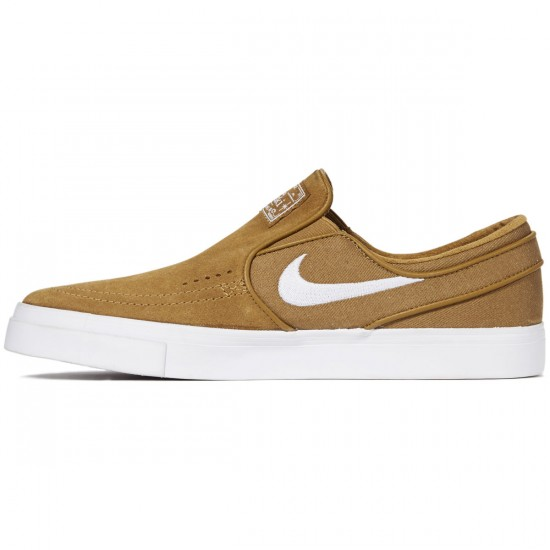Nike Zoom Stefan Janoski Slip-On Shoes - Golden Beige/White - 6.0