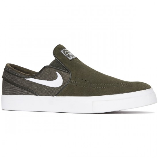 Nike Zoom Stefan Janoski Slip-On Shoes - Sequoia/White - 6.0