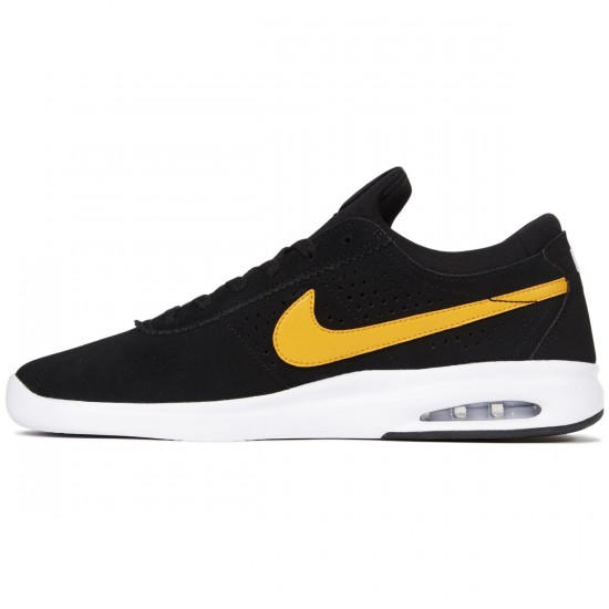 Nike SB Air Max Bruin Vapor Shoes - Black/Circuit Orange/White - 7.0