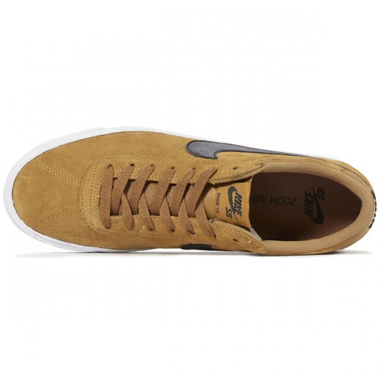 Nike SB Bruin Premium SE Shoes - Golden Beige/Black/White - 8.0