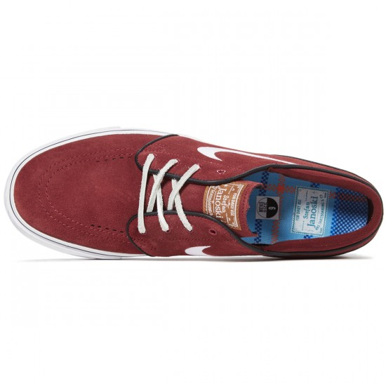Nike Zoom Stefan Janoski Shoes - Red/White/Black Gum - 8.0