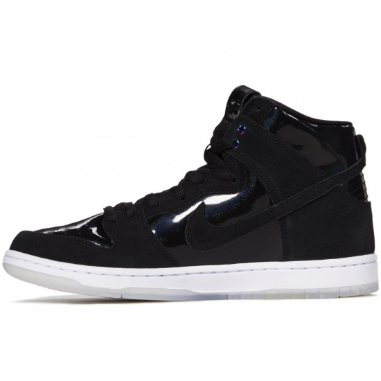 Nike Dunk High Pro SB Shoes - Black/Black/White - 8.0
