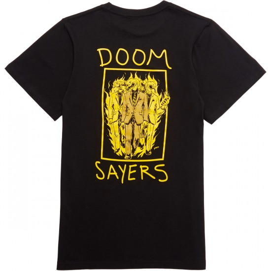 Doom Sayers Snake Phone T-Shirt - Black/Yellow