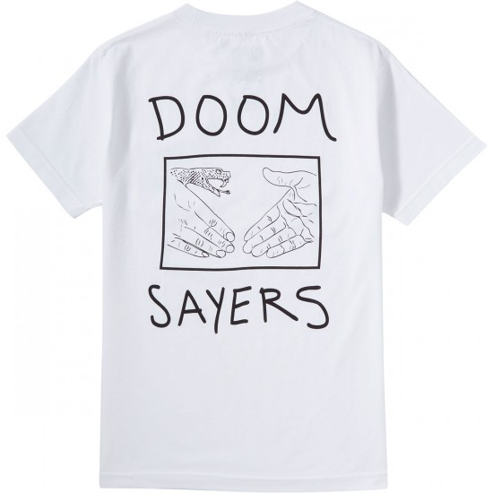 Doom Sayers Snake Shake Pocket T-Shirt - White