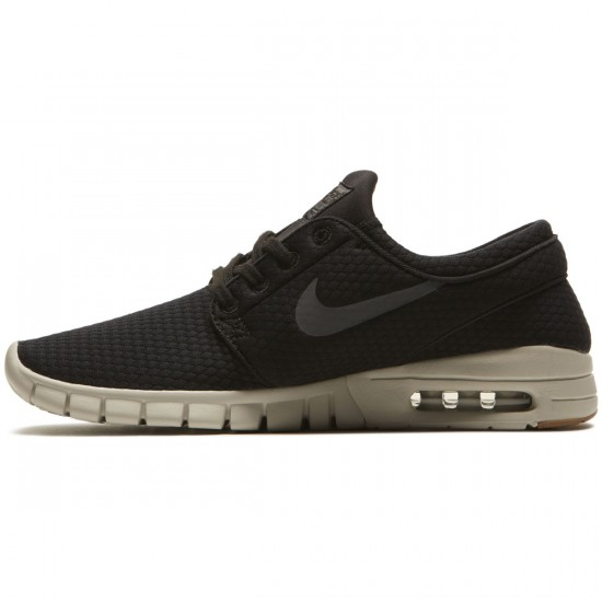 Nike Stefan Janoski Max Shoes - Black/Dark Grey Gum/Light Bone