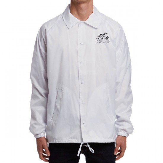 Sketchy Tank Loose Lips Coaches Jacket - White