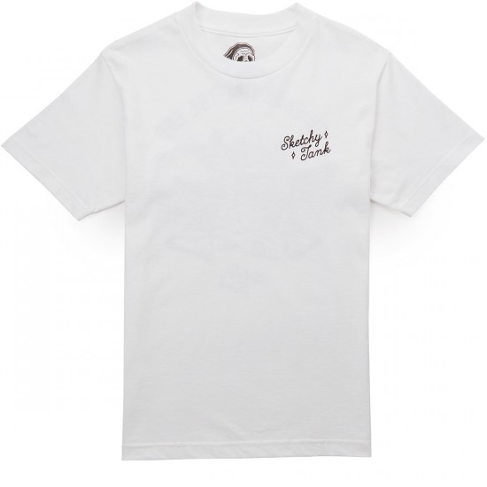 Sketchy Tank The End T-Shirt - White