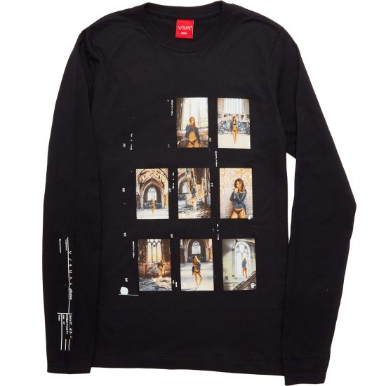 Visual Contact Sheet Series 002 Long Sleeve T-Shirt - Black