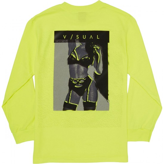 Visual Reprint Long Sleeve T-Shirt - Safety Green