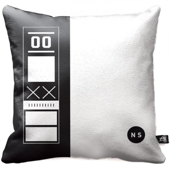 Night Shift Shutout Throw Pillow - Black/White