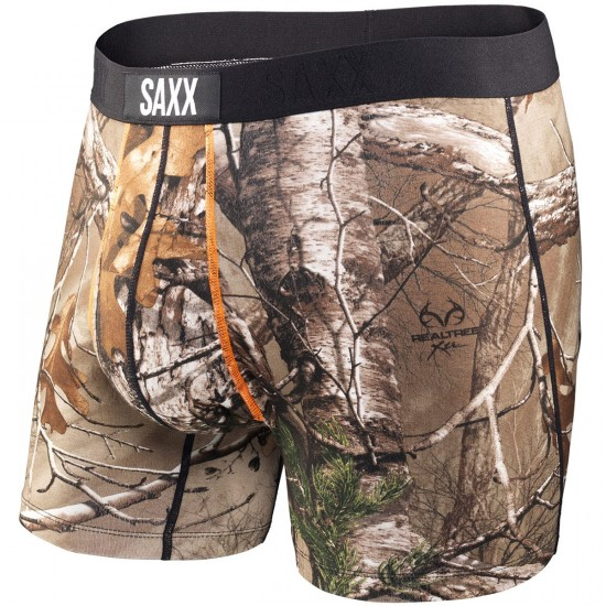 Saxx Ultra Fly Boxer Brief - Real Tree Xtra/Black