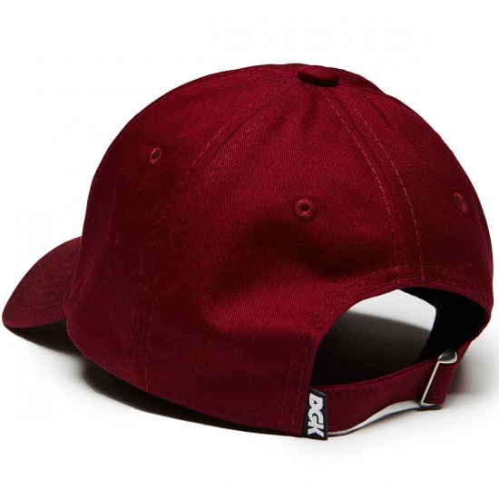 DGK Dirty Strapback Hat - Burgundy