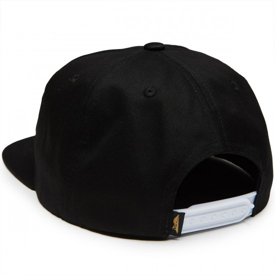 Benny Gold Anti Work Unstructured Snapback Hat - Black