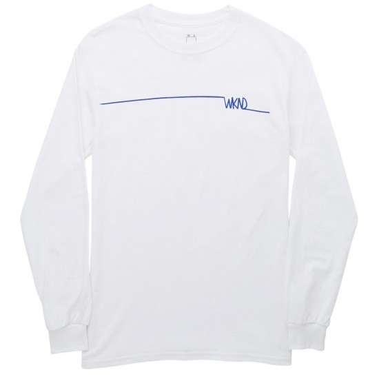 WKND Long Line Long Sleeve T-Shirt - White