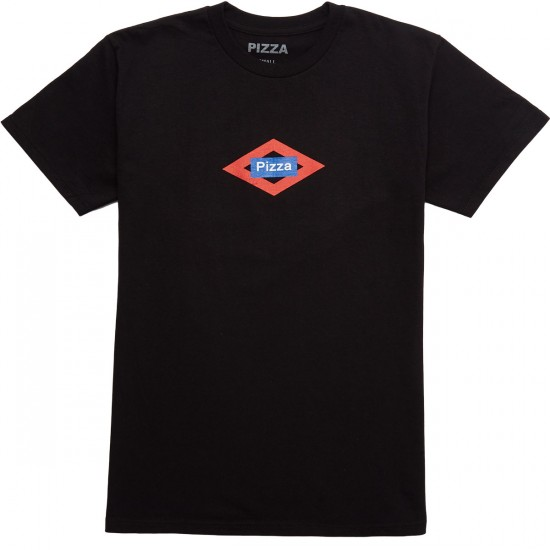 Pizza Sol T-Shirt - Black
