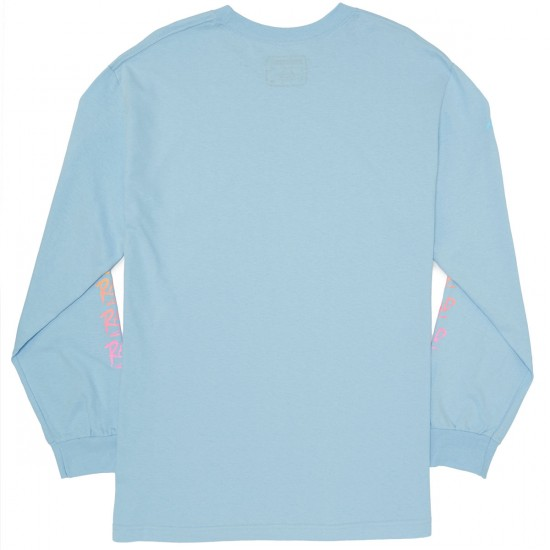 Psockadelic RAD Long Sleeve T-Shirt - Light Blue