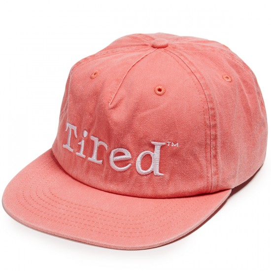 Tired Skateboards Simple Logo Hat - Red Wash