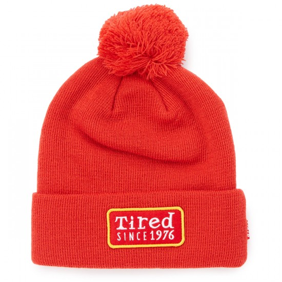 Tired Skateboards Since 1976 Beanie - Red