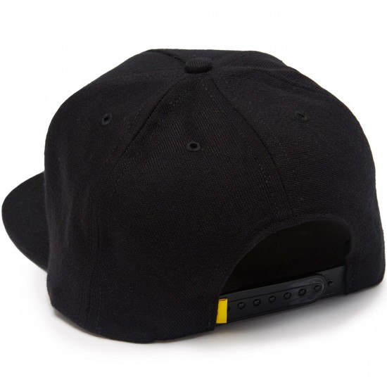 ABC Hat Co Mikes 5 Panel Snapback Hat - Black